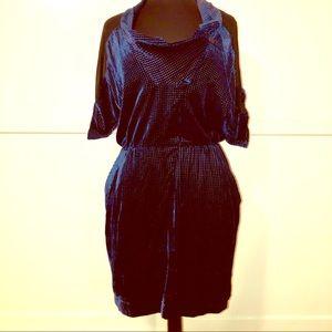 Gar-De avant-garde Blue velvet Dress